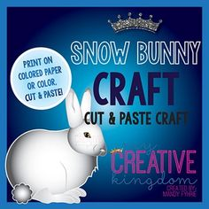 Use this Snow Bunny Rabbit Arctic Hare Craft as a great accompaniment to Math studies, Animal Studies, Arctic, or a Habitat Theme Unit. This is a cut and paste activity and is also fantastic for bulletin boards!
