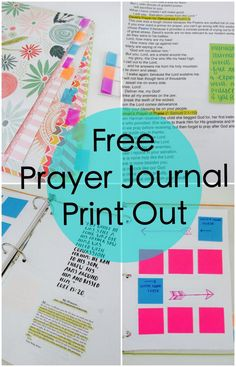 Free Prayer Journal Print Out @ Coffee and Bible Time Blog!