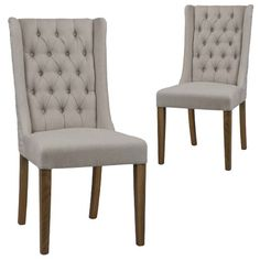 Set of 2 - Maricopa Dining Chair - Teak | Milan Direct