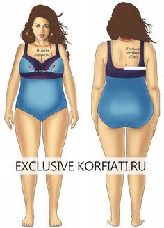 Plus Size Patterns, Sewing Patterns, Modelos Plus Size, Pattern Making, New Trends, Dressmaking, Bikinis, Swimwear, Collars