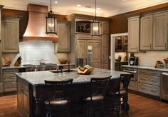"""Kitchen Stories: """"The original #kitchen was SO expansive, the homeowner felt """"lost"""" in her kitchen with too many #cabinets and an inefficient layout that had her walking all over the kitchen to cook a meal… The right layout can make all the difference in the world and this kitchen is a perfect example of that… - Dura Supreme Blog"""