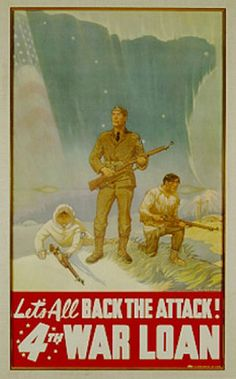 Great war time poster having to do with the Japanese occupation of Alaskan land for over a year!