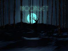 Moonset on Behance