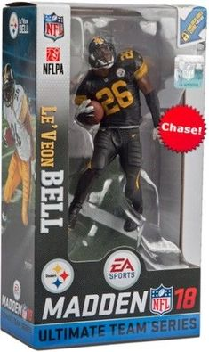 Le veon Bell Pitt Steelers McFarlane Madden NFL 18 Series Figure Chase  Variant  sports  actionfigures  figures edc0a2c1d