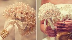 Pearls, pearls, pearls Bridemaids bouqets?