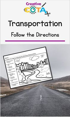 Use this no prep, transportation, follow the directions resource to promote fine motor, listening, and reading skills. Two styles of coloring pages are included: one has directions on a separate page that can be read to the group by an adult or peer, the other has the directions on the page for students to read and complete. There are five styles of each design. Check out the preview to see all that is included. Special Education Activities, Library Activities, Special Education Classroom, Color Activities, Classroom Activities, Teacher Resources, Teaching Ideas, Kindergarten Library, Transportation Theme Preschool