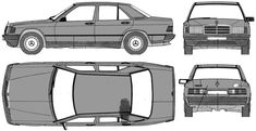 mercedes 190e vehicle template - Google Search Mercedes Benz Germany, Mercedes Benz 190e, Mercedes 190, Blue Prints, 3d Modeling, Illustrations, Design Templates, Interior Ideas, Vehicles