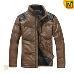Down Leather Jacket 2012 Winter Men's Breathable Shoulder Down Padded Leather Jackets CW874122 $876.67 - www.cwmalls.com