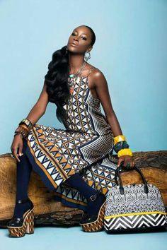 Afro Tribal Photographer - Kauwuane Burton Model - Alencia Lewis Creative Director - Miss London Makup - Bridgett Harrison Hair - Lolo Omotosho Clothing Stylist - Kristin McIntyre African Fashion Designers, African Inspired Fashion, African Print Fashion, Africa Fashion, Tribal Fashion, Fashion Prints, African Attire, African Dress, Ankara Dress
