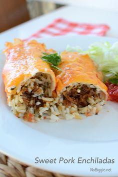 Sweet Pork Enchiladas recipe | NoBiggie.net