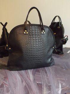 Croco embossment leather Laromo+Padici Black Label www.facebook.com/LaromoPadici