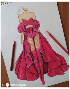 Dress Design Drawing, Dress Design Sketches, Fashion Design Sketchbook, Fashion Design Drawings, Clothes Design Drawing, Art Sketchbook, Fashion Drawing Tutorial, Fashion Figure Drawing, Fashion Drawing Dresses