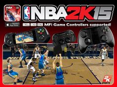 Finally NBA2K15 updated with MFi Controller Support ! Click Pic to Link Direct to iTunes or click the install App Pin
