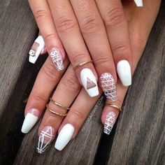 Coffin nails are fun to experiment with. Take a look at these 69 impressive designs you will definitely want to play around with.