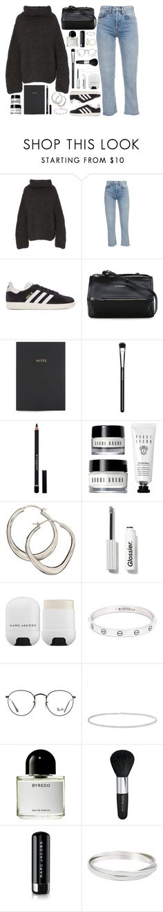 """""""Vain"""" by breilachristou ❤ liked on Polyvore featuring Lauren Manoogian, adidas Originals, Givenchy, Go Stationery, MAC Cosmetics, Dinny Hall, Marc Jacobs, Cartier, Ray-Ban and Anne Sisteron"""