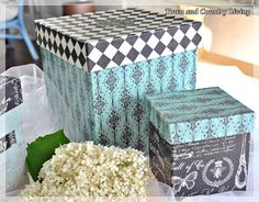Town and Country Living - decoupage boxes