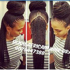 "1,688 Likes, 23 Comments - Blackhair_FlairHAIR PROMO! (@blackhair_flair) on Instagram: ""@bijou_africanhairbraiding very neatttt  #fauxlocs #locs #braids #twists #cornrows…"""