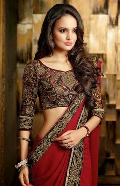Amazing Beauty Saree via Aura Boutique . Click on the image to see more!