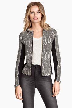 Cardigan in maglia jacquard   H&M