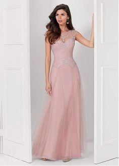 Charming Tulle Jewel Neckline Floor-length A-line Mother Of The Bride Dress