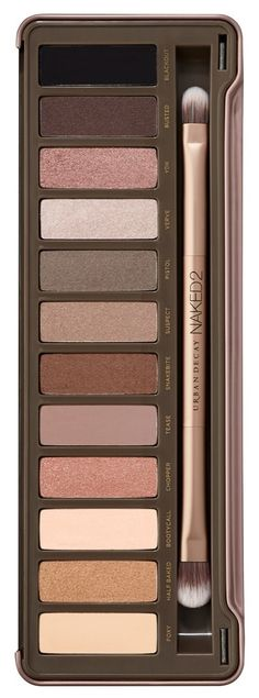 Urban Decay 'Naked2' palette is filled with luminous eyeshadow finishes ranging from shimmer to sparkle to the smoothest mattes imaginable for endless makeup possibilities.