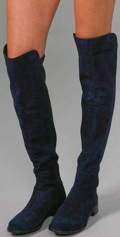 Stuart Weitzman 5050 Over the Knee Boots, I'm loving the blue suede