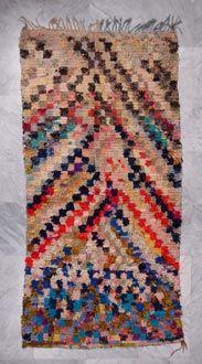 Moroccan boucherouite/rag rug