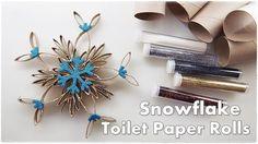 DIY Toilet Paper Rolls Christmas Ornaments Gorgeous Sparkly SNOWFLAKE ♡ ...