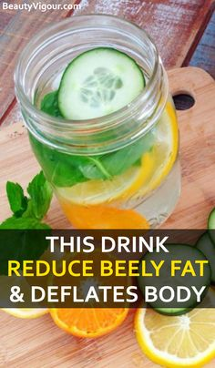This Drink Eliminates Belly Fat And Deflates The Body – drlokman - How to Lose Weight Weight Loss Meals, Lose Weight Fast Diet, Weight Loss Drinks, Loose Weight, Weight Gain, Detox Cleanse For Weight Loss, Full Body Detox, Cleanse Detox, Health Cleanse