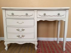DIY Chalk Paint Refinished Distressed Brenda Marie Designs chest french provincial