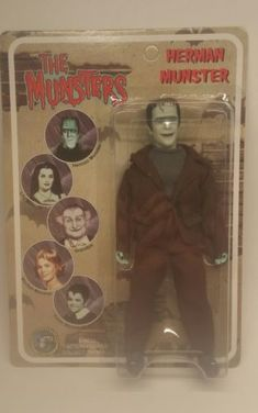 The Munsters Herman Munster 8 Inch Action Figure Classic TV Toys 2004 for sale online Classic Tv, Classic Style, Herman Munster, The Munsters, Evolution, Scary, Action Figures, Witch, Barbie