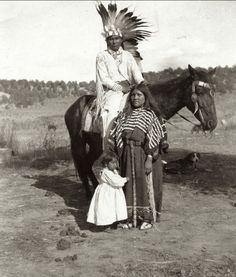 Ute family on the Southern Ute Indian Reservation, Colorado, Early 1900s. —