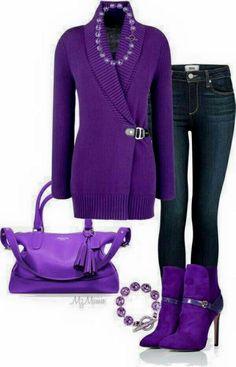 Love this purple ensemble.