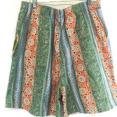 Middlebrook Park NWT Women Size 16M Shorts Elastic Back Waist Inset USA Bermuda #MiddlebrookPark #BermudaWalking