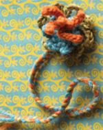 free crochet flower pattern: colorful crochet flowers by Mags Kandis.