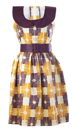 A Sleeveless Dress in African Print with belt by AnnaTeiko on Etsy, $54.99