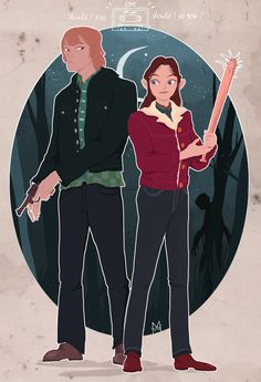 Jonathan Byers and Nancy Wheeler from Stranger Things by Woodchuck Maudevan