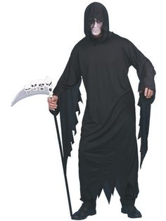 678b6aeb0ba0e3 Cheekyfun Halloween Fancy Dress Screamer Ghost by Smiffys Includes Gown  Hood Size Medium - Chest Waist