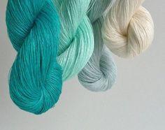 Set of 4 linen skeins   fresh mint collection от YarnStories, €16.80