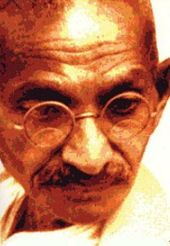Mahatma Ghandi - 1869 - 1948  Indian leader in the struggle for independence from British rule.  He developed a strategy of non-violence, opposing unjust laws through non-violent protest.  He campaigned to improve the status of the 'untouchables' and advocated for peace in times of violence. He was assassinated by a Hindu extremist in 1948.