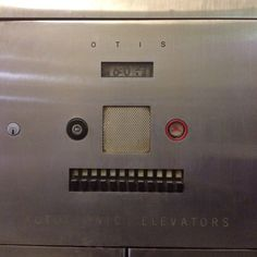 Elevator panel detail (Autotronic Elevators by Otis) in lobby of of (my home) the Healey Building