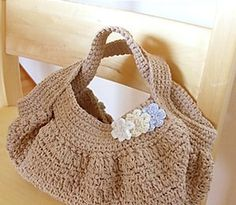 Japanese Style Boucle Bag, crochet pattern in English