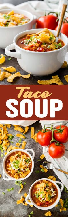 Taco Soup is a must make during the cold months of the year! This recipe is so easy and so good! #tacosoup #soup #soupdinner #easysoup #falldinner #winterdinner