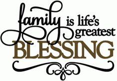 Silhouette Design Store - View Design #50720: family life's greatest blessing - vinyl phrase
