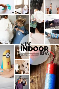 Active indoor ideas to keep busy kids moving even when stuck inside.