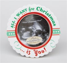 All i want for christmas is you ultrasound frame from the the grandparent gift co red green all i want for christmas ultrasound ornament negle Choice Image