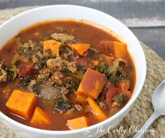 This sweet potato whole30 chili will warm your belly, please your family, and won't leave you bloated from legumes. And it's easy- made in the crockpot!