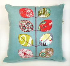 Cool appliqued pillow