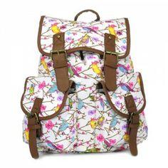 Plecak vintage Salomea /bird różowy/ unisex