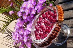 tarta de chocolate blanco y frambuesas